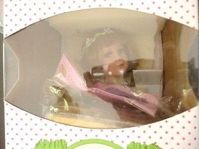 "Paradise Galleries Porcelain  Doll, Box 16 1/4"" Long, Mib, Never Removed F/box"
