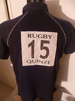 superbe polo rugby serge blanco taille:M enorme logo au dos