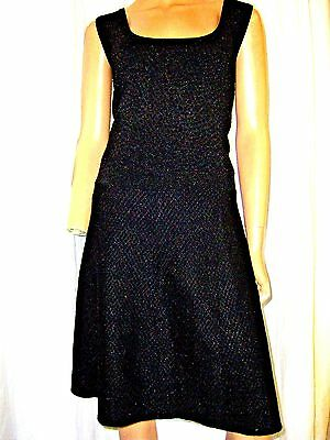 520d75adb8e8d Nwt Plus Size 2X Jessica Simpson Womans Blk silver Fit And Flare Knit Dress  Nwt