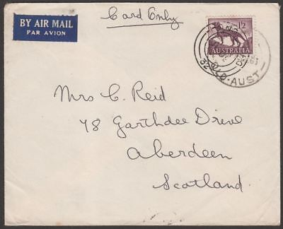Australia 1963 QEII 1sh2d Airmail Cover Used Queensland to UK w Hong Kong Marks