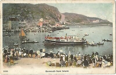 Wales Barmouth from Island 1907 Vintage Postcard