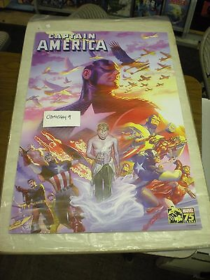 CAPTAIN AMERICA #22 POSTER ~ ALEX ROSS ~ 24 x 36 inches (2015) 75TH ANNIVERSARY
