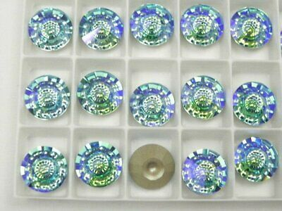 Swarovski 1681 Aqua Illumine F 12mm Vision Stones (1 pieces)