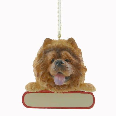 Personalized Ornaments RED CHOW Polyresin Christmas Puppy Dog 21812