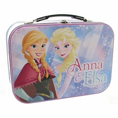 Disney ELSA & ANNA TIN TOTE Tin Frozen Decorative Tin 26406