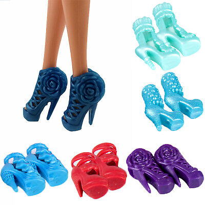 Fashion 10 Items Party Daily Wear Dress Outfits Clothes Shoes For Barbie Doll NT