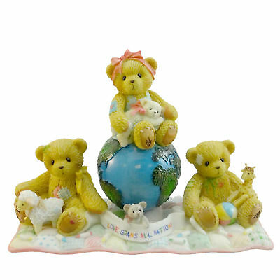 Cherished Teddies LOVE SPANS ALL NATIONS  Saint Jude Teddy Bear World 110009