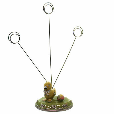 Easter CHICK PICTURE HOLDER Metal Spring Photo Egg 2191