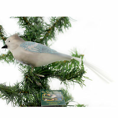 Old World Christmas BLUE JAY Blown Glass 18030