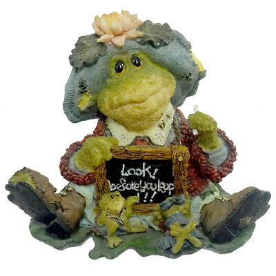Boyds Bears Resin MS LILYPOND LESSON NUMBER ONE Teacher Wee Folkstone Frog 36705