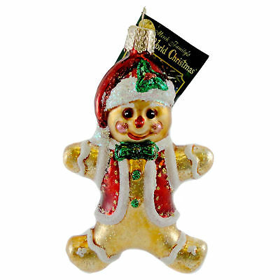 Old World Christmas GINGERBREAD BOY. Blown Glass Ornament Cookie 32164
