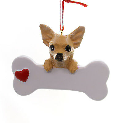 Personalized Ornament CHIHUAHUA Polyresin Dog Best Friend Bone 561