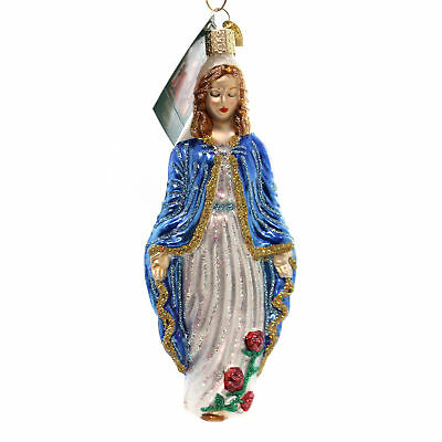 Old World Christmas VIRGIN MARY Glass Mother Jesus 10188