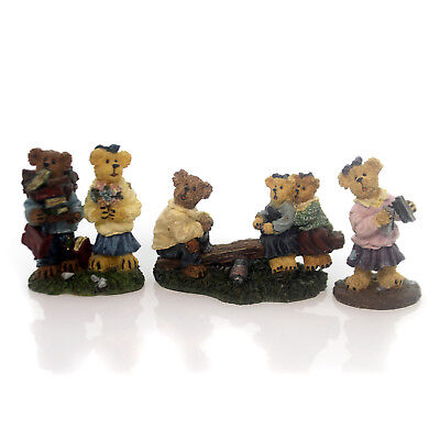 Boyds Bears Resin SUZI Q., FRANKIE & ANNETTE, A.J. W/ MARY & KATE St/3 195481