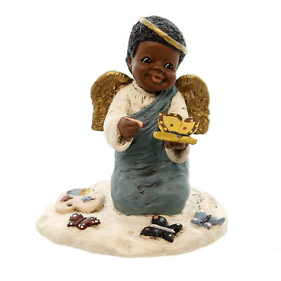 All Gods Children CHARITY Polyresin African American Butterfly 1408