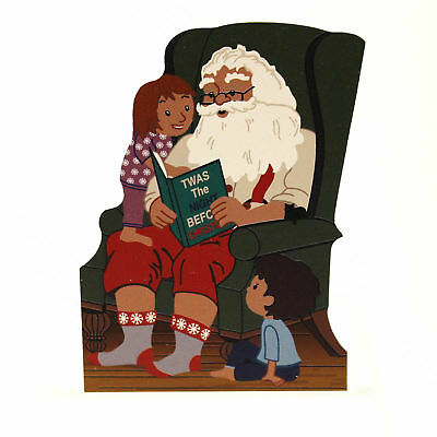 Cats Meow TWAS THE NIGHT BEFORE CHRISTMAS SANTA Wood Standing Dated 2014 14601