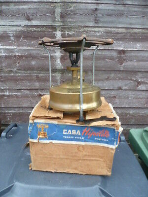 Very Vintage Original Hipolito Brass Stove**used**with Box & Spanner**nice Stove