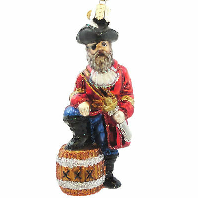 Old World Christmas PIRATE CAPTAIN Blown Glass 24108