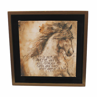 Animal LP HORSE PURE AIR SHADOW BOX Wood 5.5 Inch Square Sign Plaque 3005050651