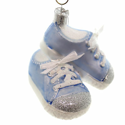Noble Gems BABY SNEAKERS Glass Glass Christmas Ornament Nb0543 Blue