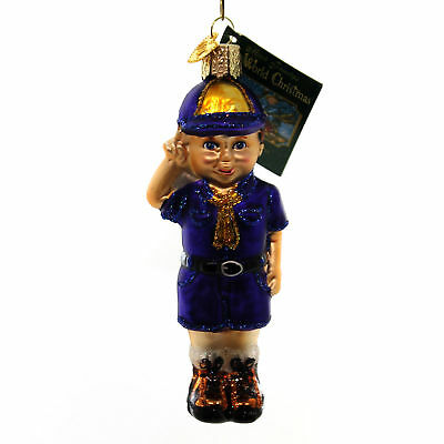 Old World Christmas LIL' SCOUT Glass Scouting Youth Movement 24147