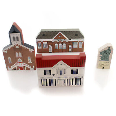 Cats Meow Village BLACK HERITAGE SERIES  SET/4 Historical History Month Bhs 1994