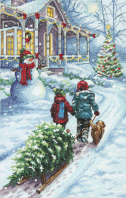 Cross Stitch Kit ~ Dimensions Christmas Tradition Winter Scene #70-08960