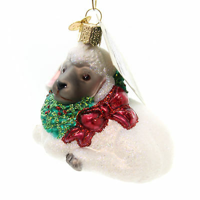 Old World Christmas LITTLE LAMB Glass Ornament Gentleness Purity 12035