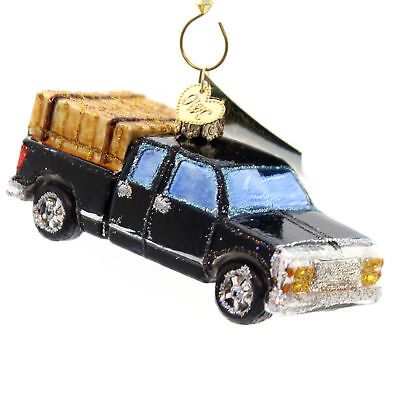 Old World Christmas RANCH TRUCK Glass Pickup Durable 46057