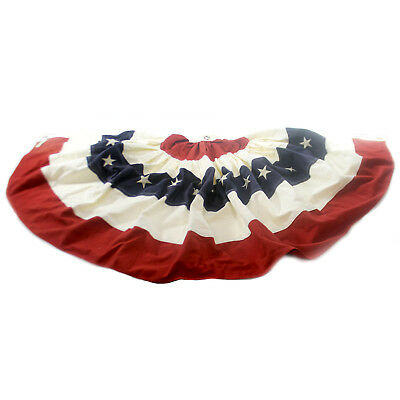 Patriotic AMERICAN FLAG BUNTING Fabric Patriotic Stars Stripes July 4 Cg1090