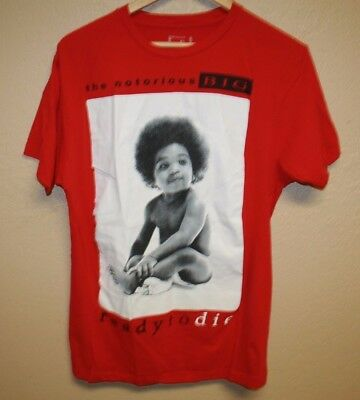 The Notorious BIG Ready to Die Album art red T-Shirt Mens Medium M rap classic