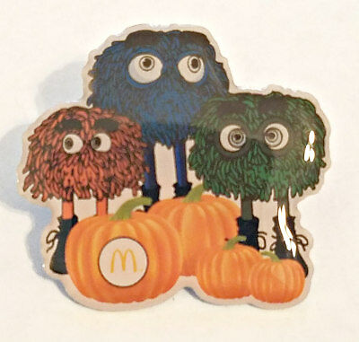 New McDonald's Holiday Lapel Pin Fall Halloween Fry Guys With Pumpkins