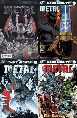 DARK NIGHTS METAL #3 SET of 4 JIM LEE, ADAM KUBERT, JOHN ROMITA, FOIL COVER