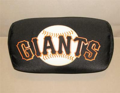 "MLB San Francisco Giants Microbead Neck Pillow Roll 13"" Plush Tube Lumbar Black"