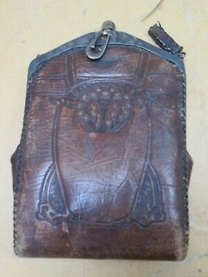 Antique leather coin purse very old