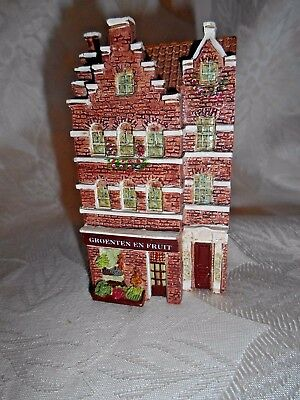"Dominique Gault Miniature Town House Building #316312 ""Groenten En Fruit"""