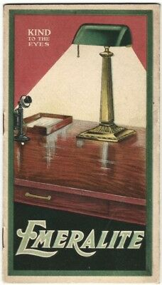 1920 Emeralite Office & Home Lamps Color Illustrated Lighting Trade Catalog