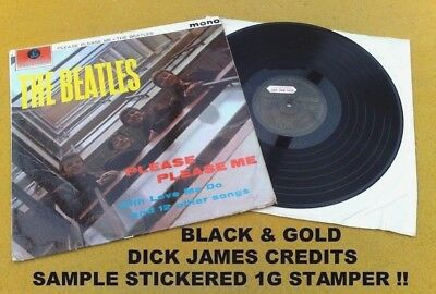 "Beatles "" Please Please Me ""super Sample Uk Orig Black & Gold Mono Dick James 1G"