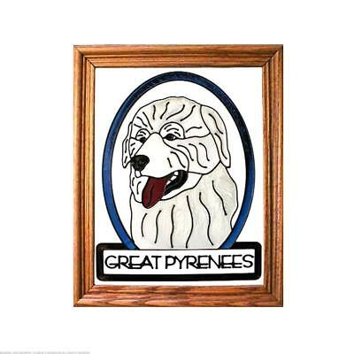 Great Pyrenees Painted Glass Panel (BW-257)