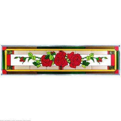 Rose Painted Glass Panel R-194