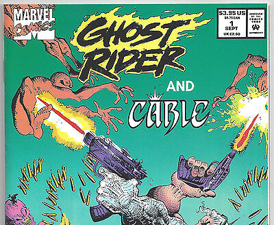 Ghost Rider and Cable #1 Servants of the Dead from Sept. 1991 in VF Condition DM