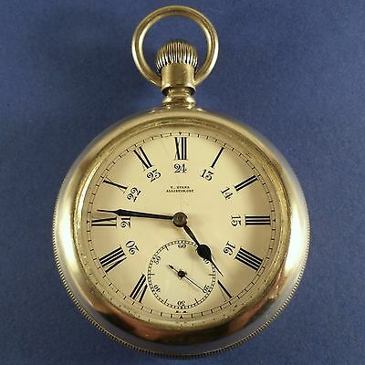 "Vintage Pocket Watch "" T.Evans Alliston, Ont "" Evans Extra 15 Jewels S/N 2006834"