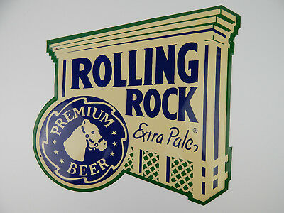 Rolling Rock Extra Pale Premium Beer Tin Bar Sign Lithographed 2000 Latrobe 16""