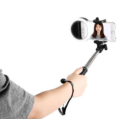 Neewer Kit Selfie: Flash Led Anillo Con 36 Led Para Moviles, 18-80Cm Palo Selfie