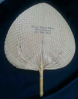Old Advertising Premium Fan BURGEE Funeral Home Horace Falls Road Baltimore MD