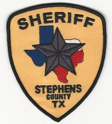 Stephens County Sheriff State Texas TX shoulder patch