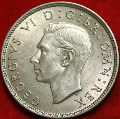 1946 Great Britain Two Shillings Silver Foreign Coin Free S/H