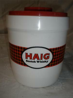 Retro Vintage Ice Bucket Haig Scotch Whisky Canister Biscuit Barrel Plastic