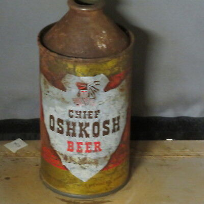 Chief   Oshkosh Beer    Solid  Colorful   Cone Top