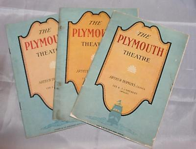 Vintage 1926 Lot of Theatre Programs Playbills Plymouth Theatre Broadway NYC OLD
